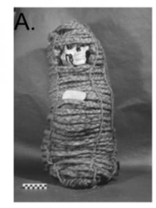 Pre-Columbian Andean mummy.